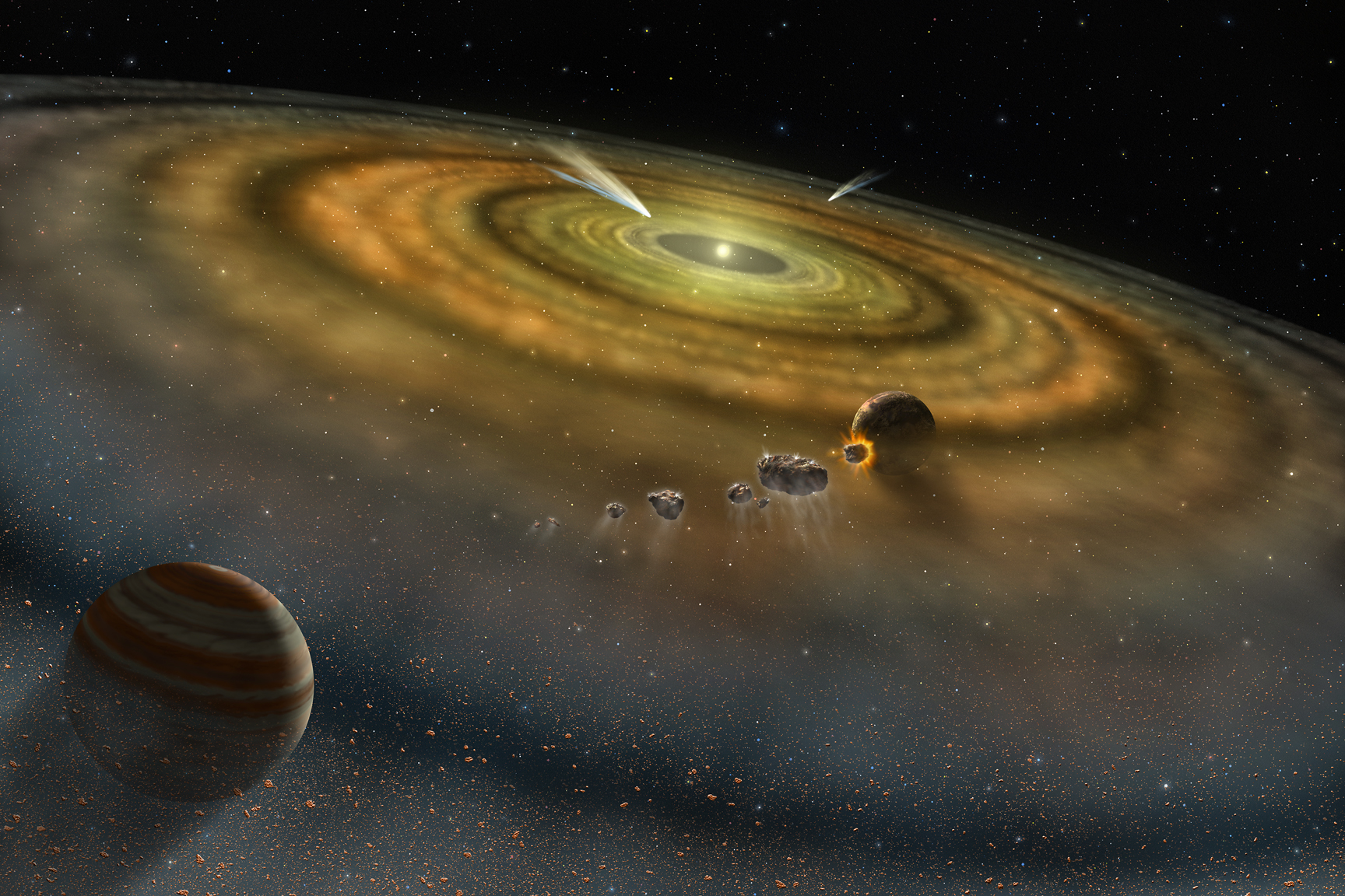 Vesta, tell us about the childhood of the Solar System