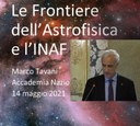 E' online la registrazione integrale della conferenza tenuta dal presidente dell'INAF Marco Tavani presso l'Accademia Nazionale dei Lincei il 14 maggio 2021