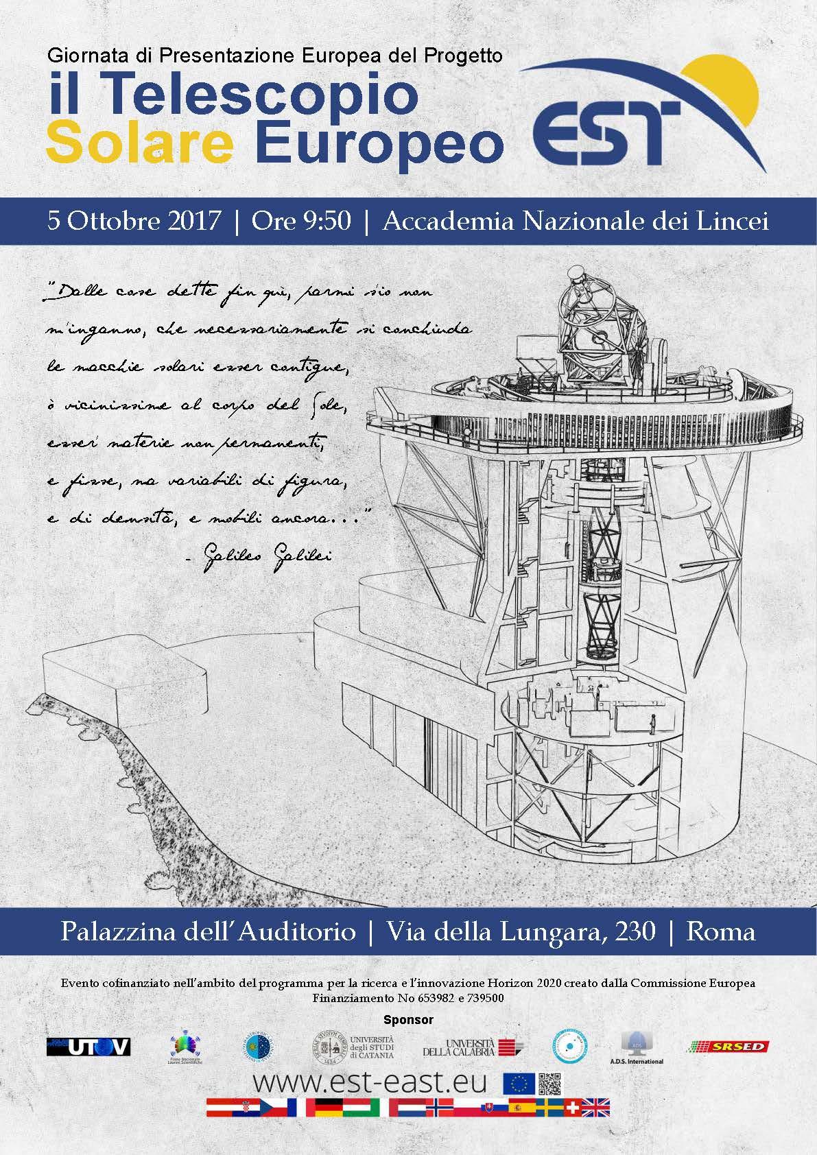 EST: Il Telescopio Solare Europeo