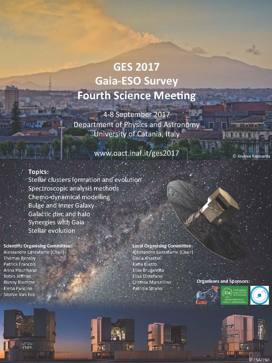 IV meeting scientifico Gaia-ESO Survey