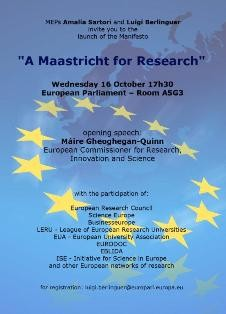 A Maastricht for Research - invito 16 ottobre 2013